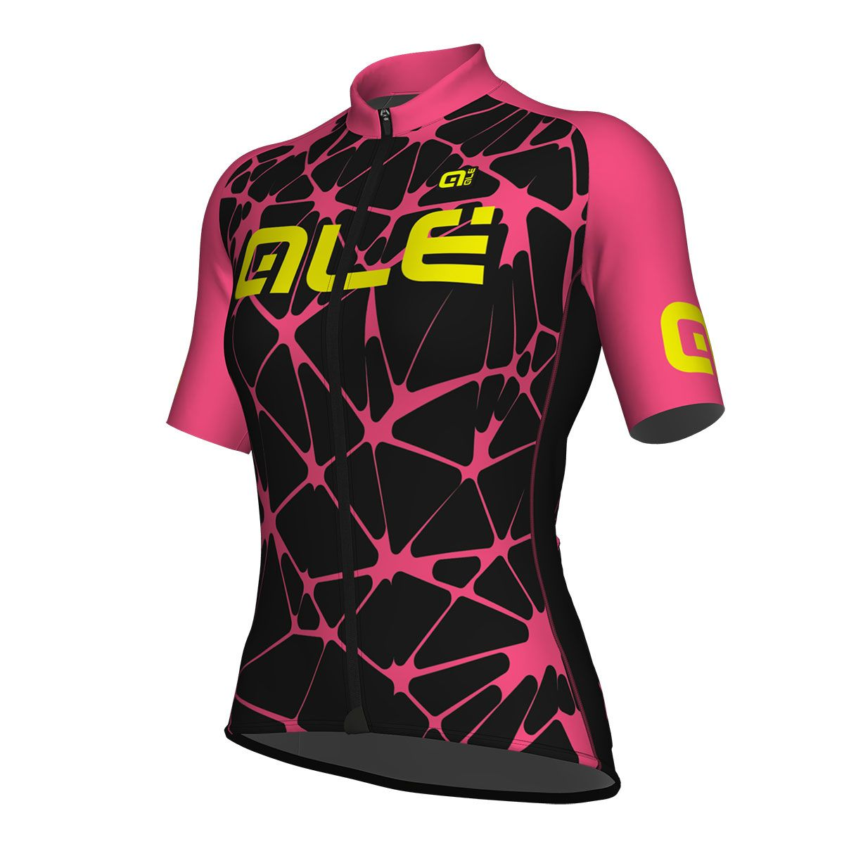 Maillot Ciclismo mujer Ale Solid Cracle Negro rosa