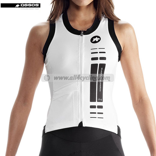 Top Maillot para mujer Assos nS.superLeggera Blanco