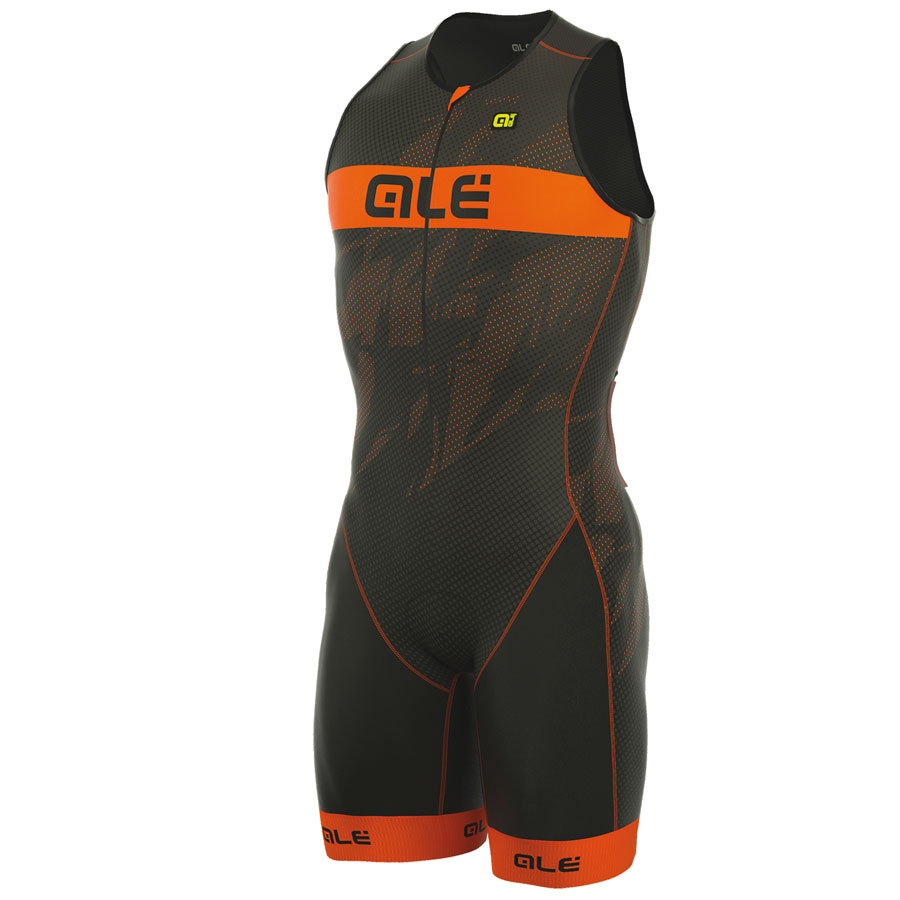Hombre Body Ale Tri Record Zip Front Naranja Fluo