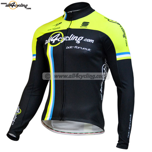 Maillot Ciclismo M/L Bodyfit All4cycling Bdc Forum Fluo