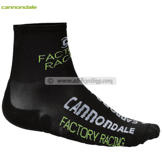 Equipo profesional Calcetines Cannondale Factory Racing Negro
