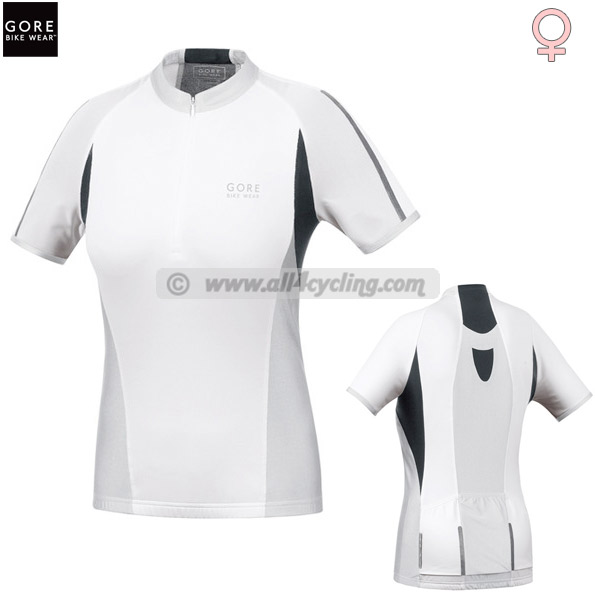 Maillot Ciclismo Mujeres Gore Ozon Lady 25th Blanco/Silver