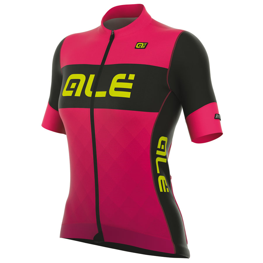 Maillot Ciclismo Mujer Ale R-EV1 Rumbles Rosa Fluo
