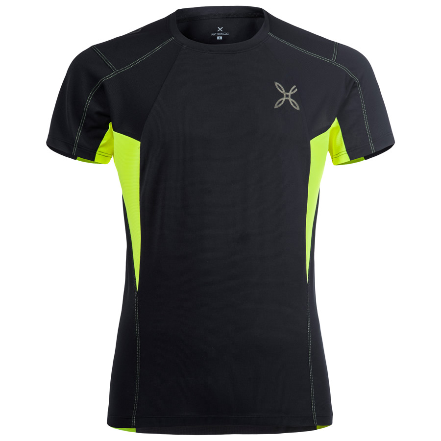 Hombre Jersey Montura Outdoor Perform Negro Amarillo