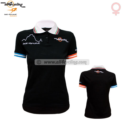 Equipo profesional Polo Lady All4Cycling Bdc Forum Team Negro