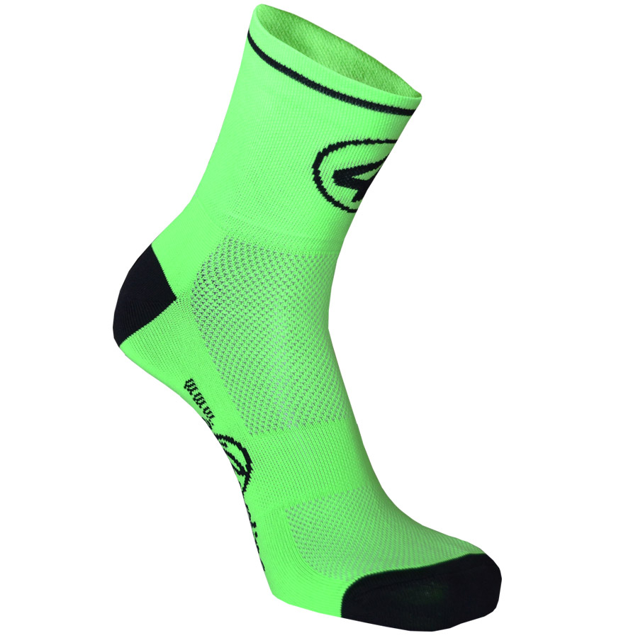 Equipo profesional All4cycling Calcetines 8cm Verde Fluo