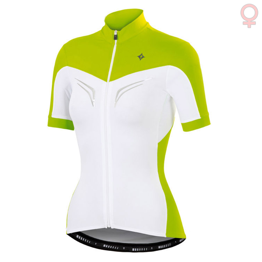 Maillot Ciclismo Mujer Specialized SL Expert Blanco Verde