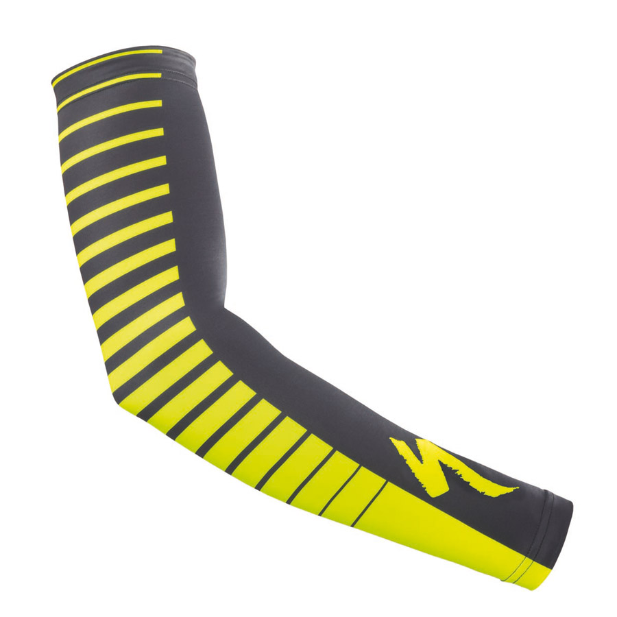 Hombre Manguitos Specialized Therminal Negro Amarillo Fluo