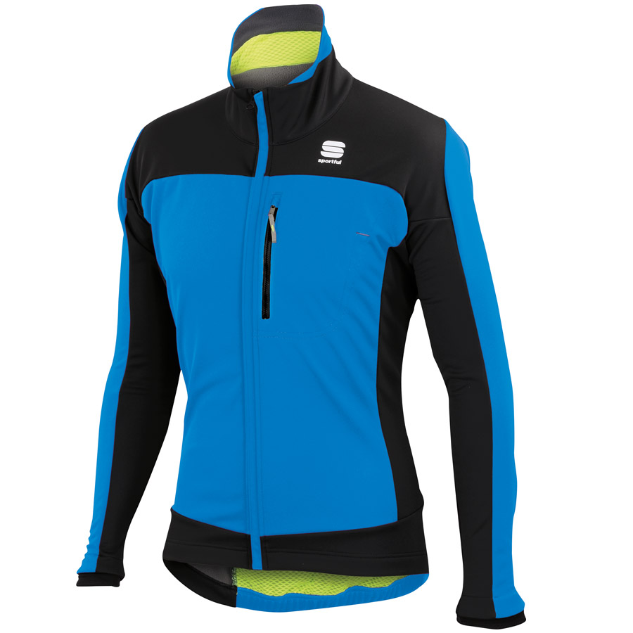 Hombre Chaqueta Sportful Protest Softshell Electric Azul