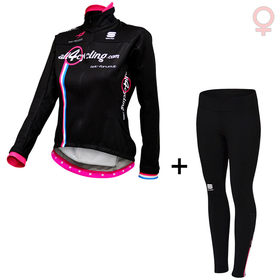 Equipo profesional Kit de invierno Mujer All4cycling Bdc Forum Team 14