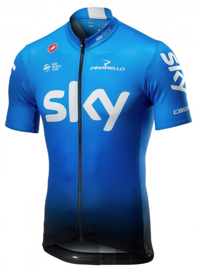 Castelli Maillot Ciclista Manga Corta De Team Sky 2019 Fan Training Edition