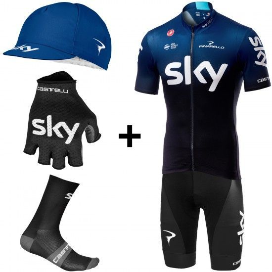 Castelli Super Set De Ciclismo Del Equipo Fan Team Sky 2019