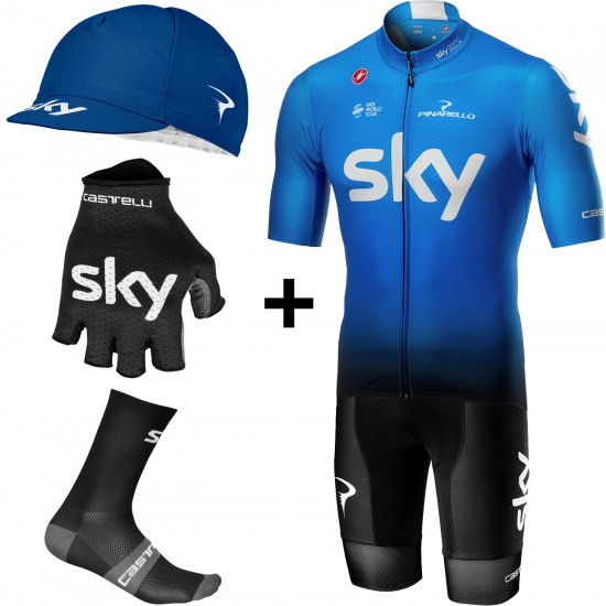 Castelli Super Set De Ciclismo Del Equipo Fan Training Edition Team Sky 2019